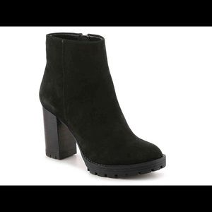 BCBG black heeled booties